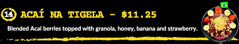 Acai Na Tigela - Taste of Brazil